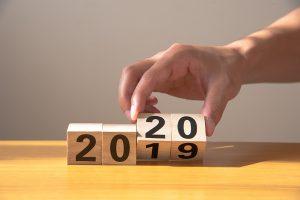 2019年から2020年へ変化するイメージ写真
