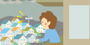 大雨の時のイメージイラスト