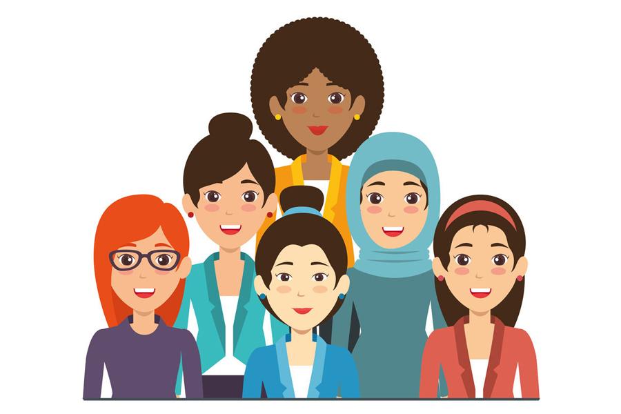多文化共生をイメージしたイラスト